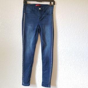 JENNIFER LOPEZ Skinny Stretch Embellished Jeans